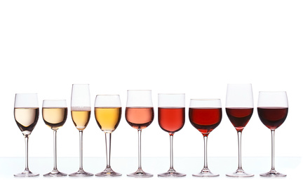 Wine glasses image