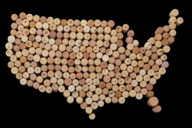 usa cork map
